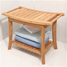Bamboo Bathroom Stools