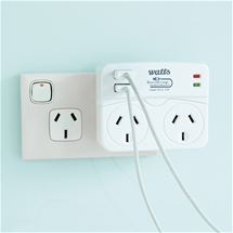 Double Adaptor/USB Ports