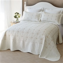 Ivory Flower Bedding