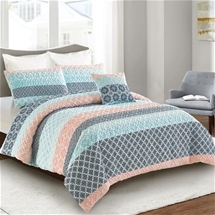 Lana printed pinsonic quilt cover set