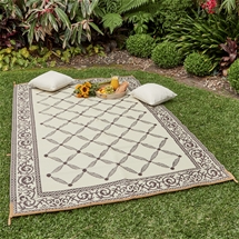 Reversible Patio Mat-Khaki