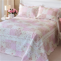 Pink Rose Patchwork Bedding