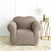 Stretch Jacquard Damask Armchair Cover