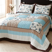 Treillage Embroidered Bedspread