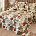 French Poinsettia Bedspread_FPSET_0