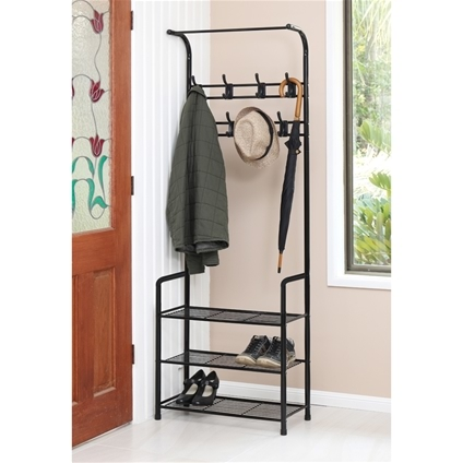 Coat And Shoe Storage Rack