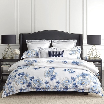 Wedgwood Floral Navy Bedding