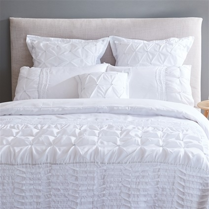 Francesca White Bedding Home Collections