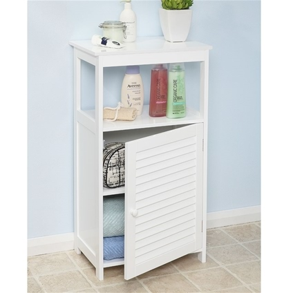 Louvered Bathroom Cabinet