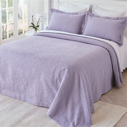 Lilac Matelasse Bedspread Home Collections