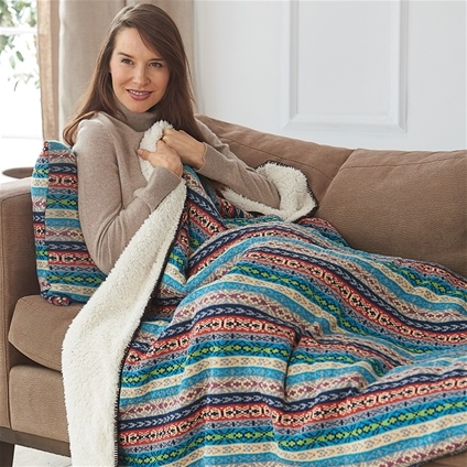 Norwegian Style Throw and Cushion